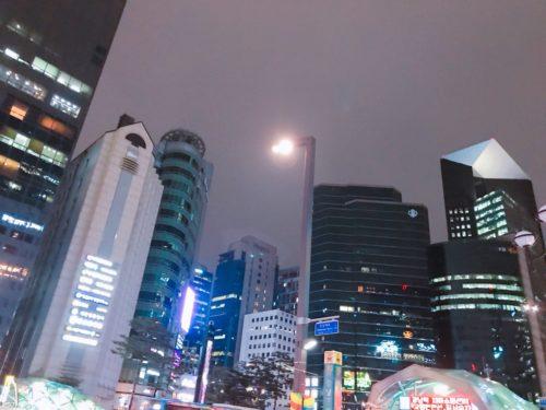 韓国植毛手術 費用 旅費 夜の韓国の様子
