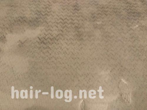スーパーミリオンヘアーを洗うとこうなる。